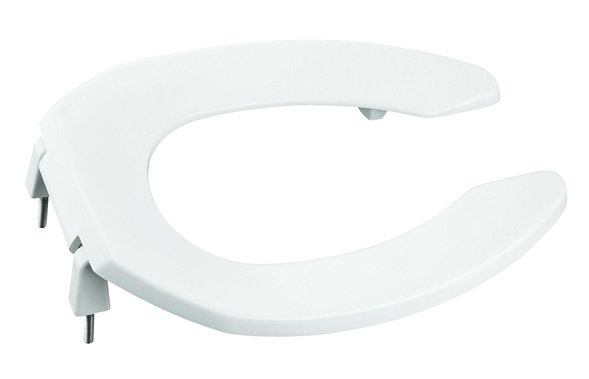 KOHLER LUSTRA� ELONGATED TOILET SEAT WITH 1 IN. BUMPERS, WHITE