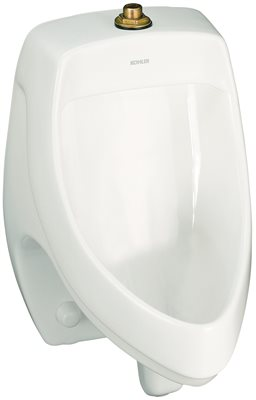KOHLER DEXTER� SIPHON JET URINAL WITH TOP SPUD, 0.5 GPF, WHITE