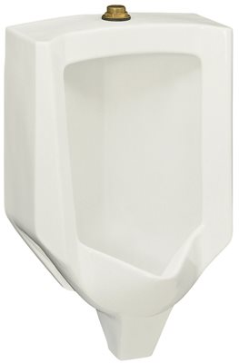KOHLER STANWELL� BLOW-OUT WALL-MOUNT URINAL WITH TOP SPUD, 1.0 GPF, WHITE