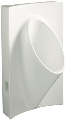 KOHLER STEWARD� WALL-MOUNT WATERLESS URINAL, WHITE