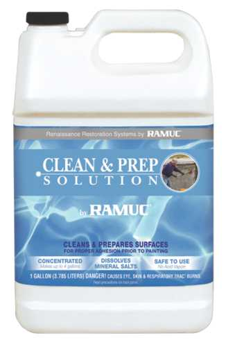 RAMUC� CLEAN AND PREP SOLUTION FOR POOLS AND DECKS, 1 GALLON, LIGHT YELLOW