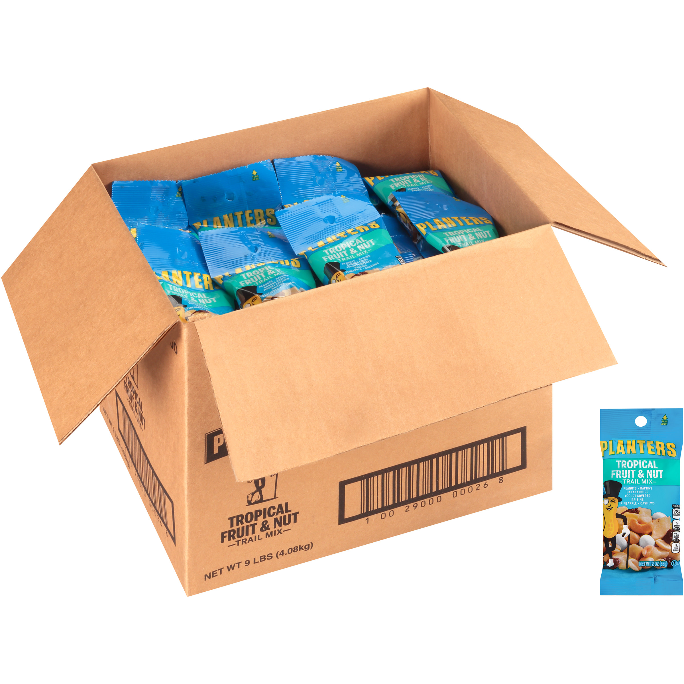 Trail Mix, Tropical Fruit & Nut, 2oz Bag, 72/Carton