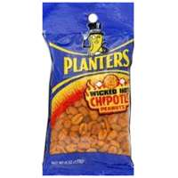 Planters 483280 Peanuts, 6 oz Bag, Chipotle