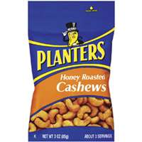 Planters 422700 Cashews, 3 oz Bag, Honey Roasted