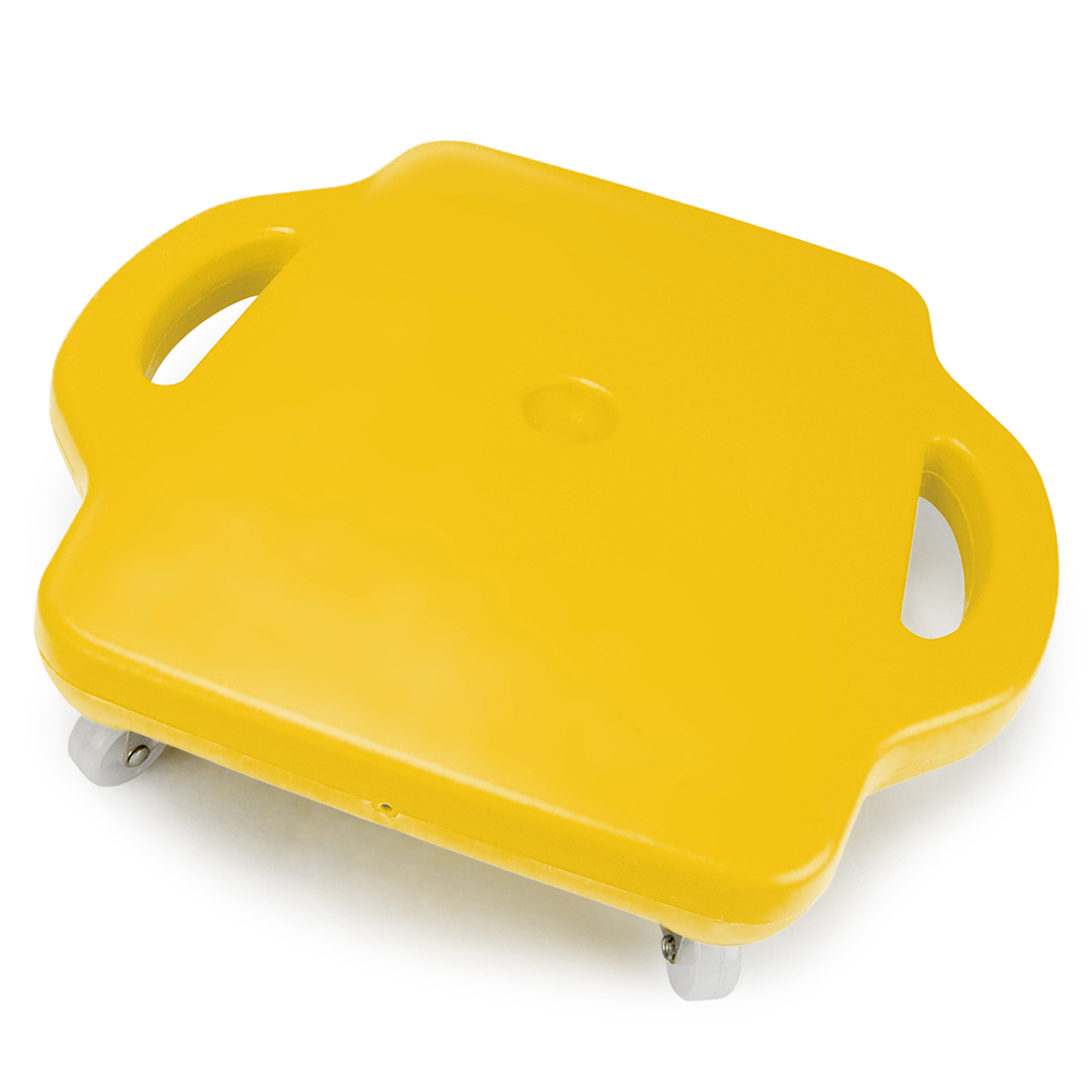 16in Gym Class Scooter Board w/Safety Handles - Yellow