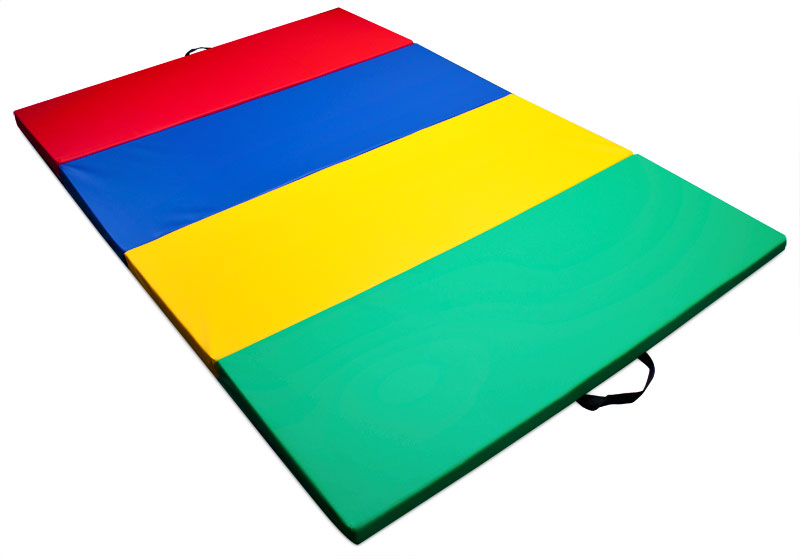 Mixed Rainbow Children's and Gymnastics 4' x 6' Tumbling Mat