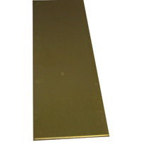 K & S 246 Metal Strip, 0.064 in T, 12 in L x 1/2 in W, Brass