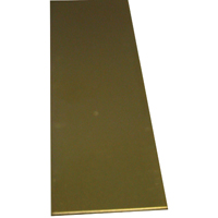 K & S 244 Metal Strip, 0.032 in T, 12 in L x 2 in W, Brass