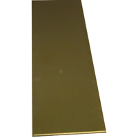K & S 227 Metal Strip, 3/32 in T, 12 in L x 3/4 in W, Brass