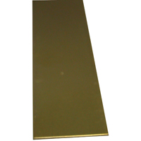 K & S 229 Metal Strip, 3/32 in T, 12 in L x 2 in W, Brass