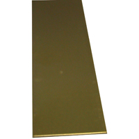 K & S 243 Metal Strip, 0.032 in T, 12 in L x 3/4 in W, Brass
