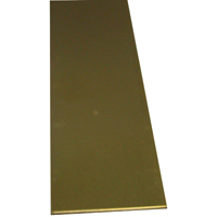 K & S 226 Metal Strip, 3/32 in T, 12 in L x 1/2 in W, Brass