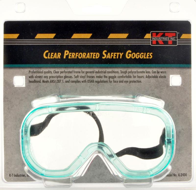 4-2400 CLEAR SAFETY GOGGLE