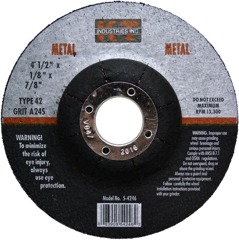 5-4246 4.5 IN. METAL GRINDING WHEEL