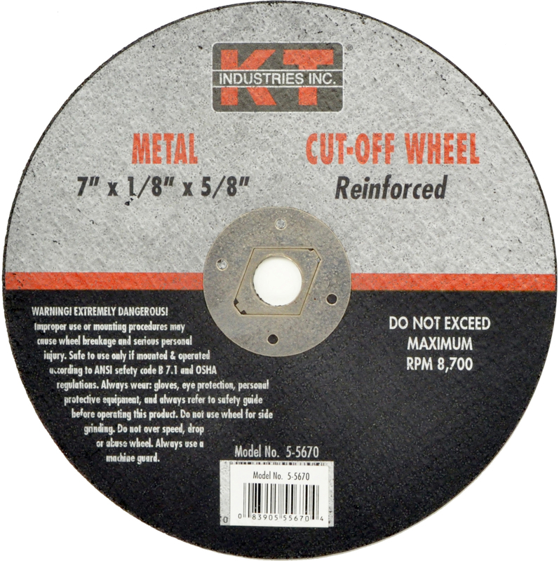 5-5670 7 IN. METAL CUT OFF WHEEL