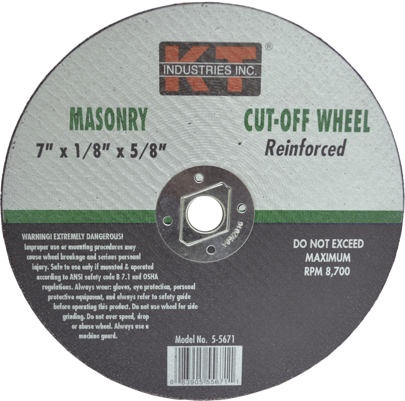5-5671 7 IN. MASON CUT OFF WHEEL