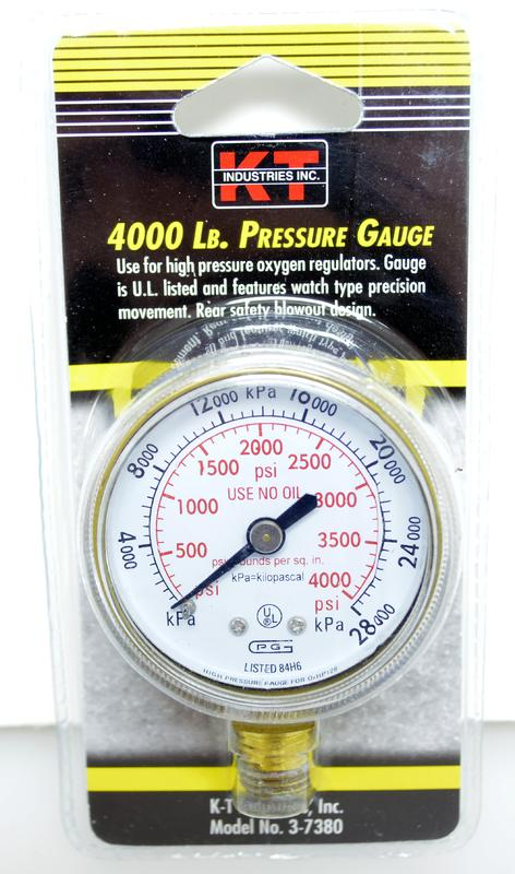3-7380 400LB PRESSURE GAUGE