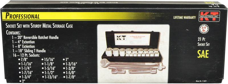 1-5621 3/4 21PC SAE SOCKET SET