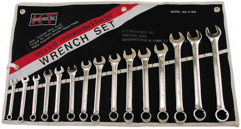 4-1815 15PC COMBO WRENCH SET