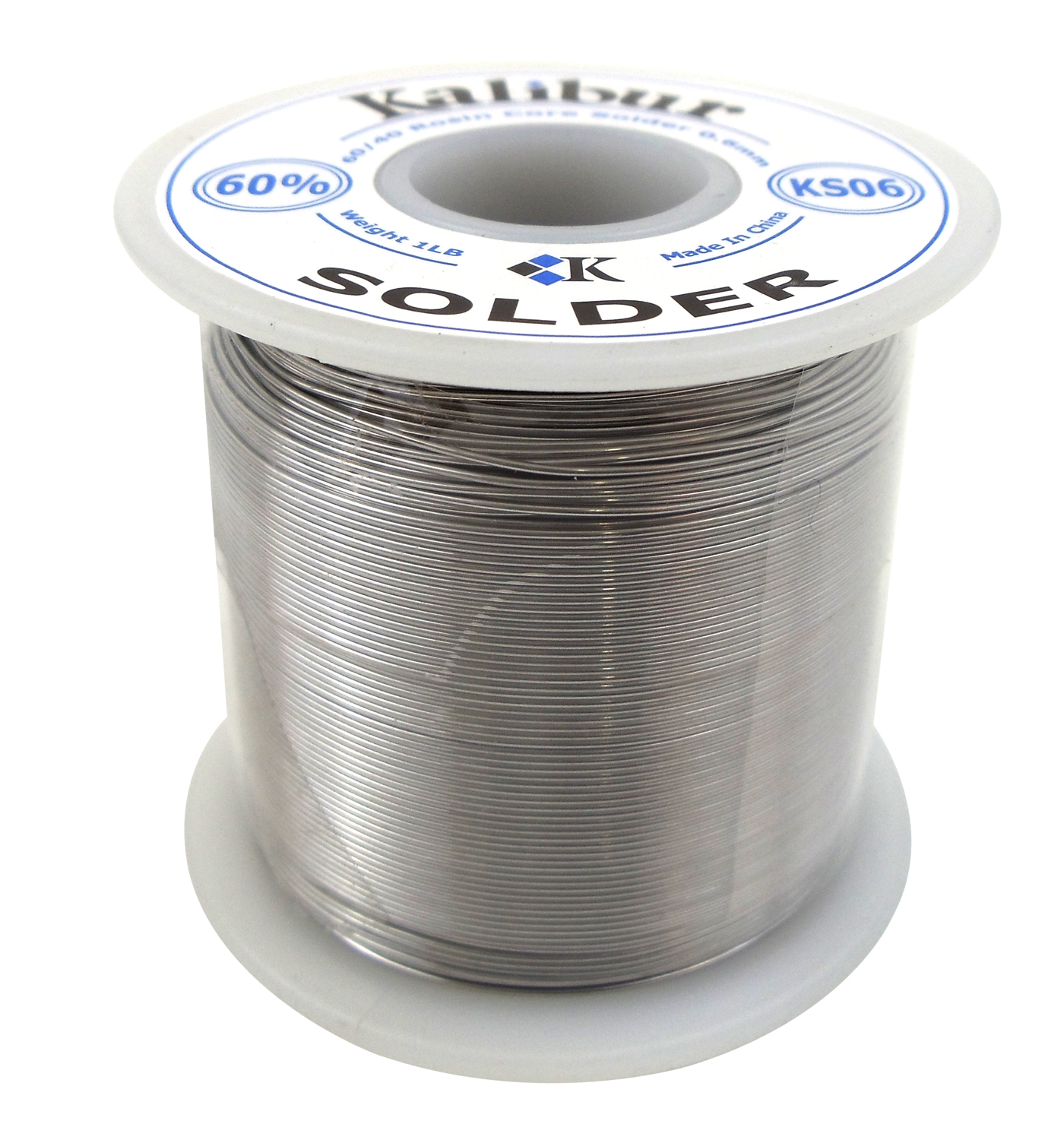 KALIBUR - 60/40 ROSIN CORE 23 GAUGE SOLDER .61MM (1LB SPOOL)
