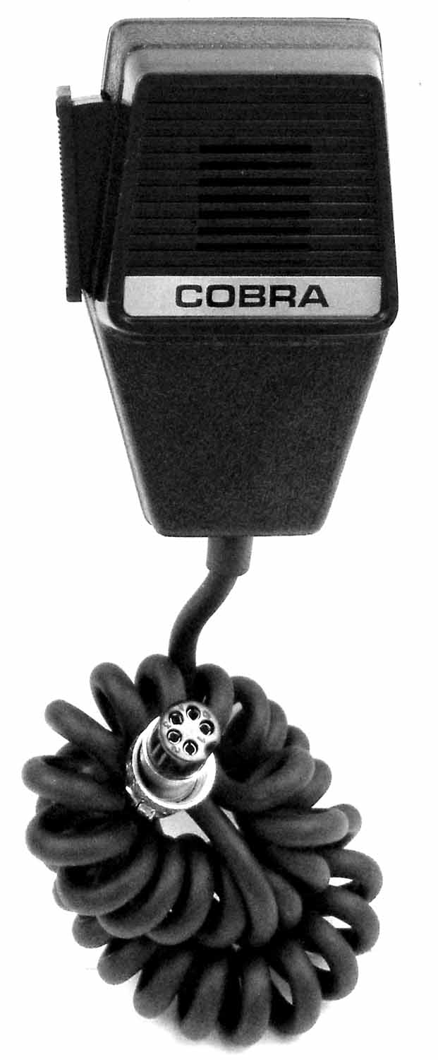 COBRA 5 PIN REPLACEMENT MICROPHONE W/6' CORD