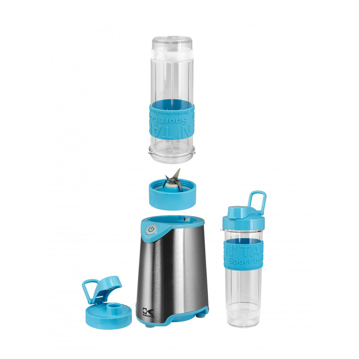 Kalorik Home and Kitchen Stainless Steel Personal Sport Multipurpose Blender - Blue