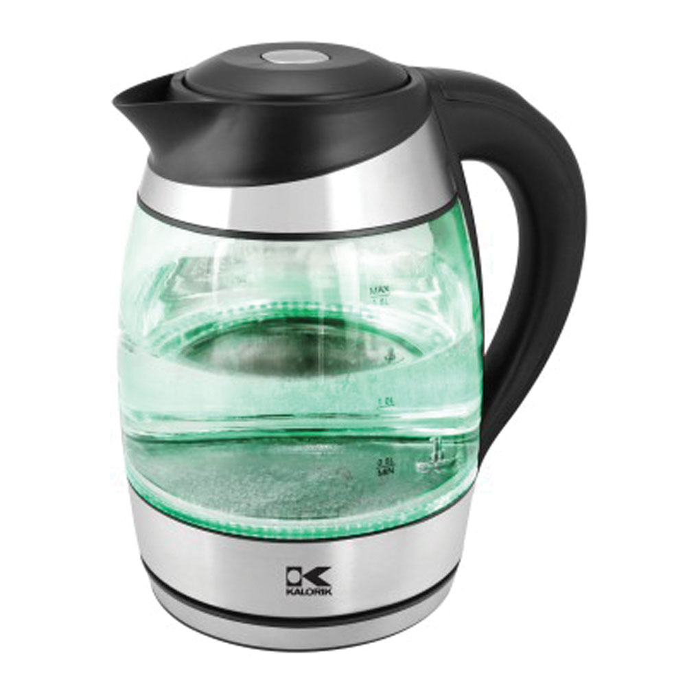 Kalorik Glass Water Digital Kettle with Color Changing LED lights