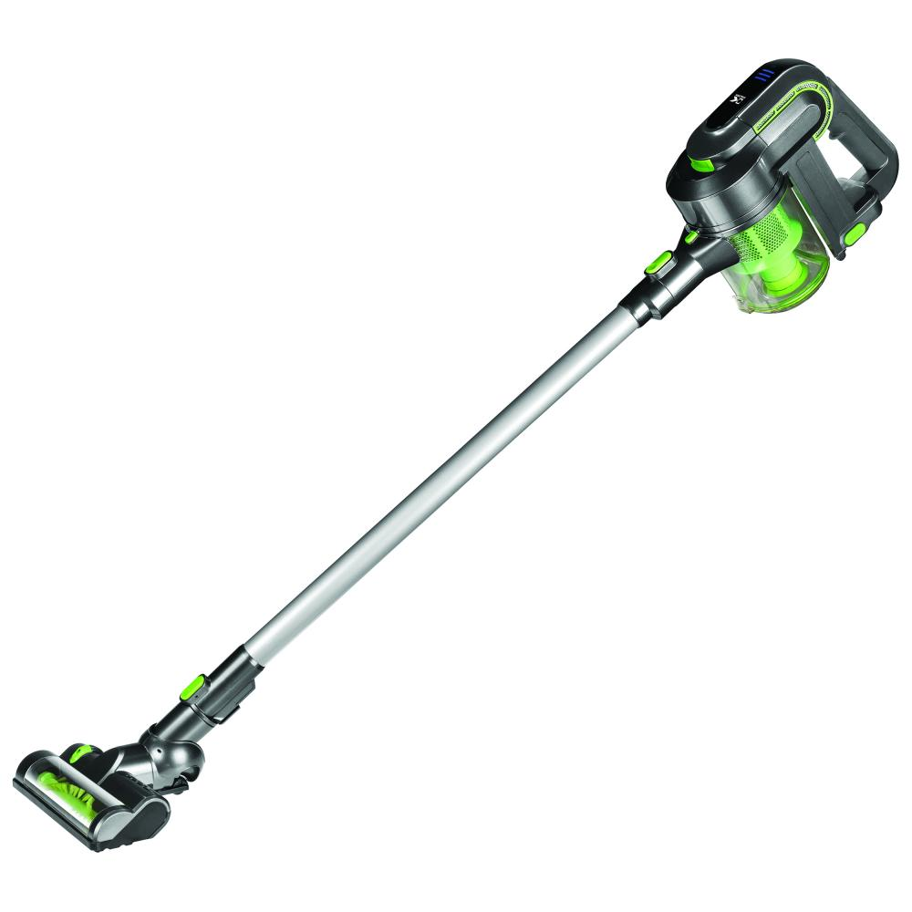 Kalorik 2-in-1 Cordless Rechargeable Cyclonic Vacuum Cleaner, Green/Silver