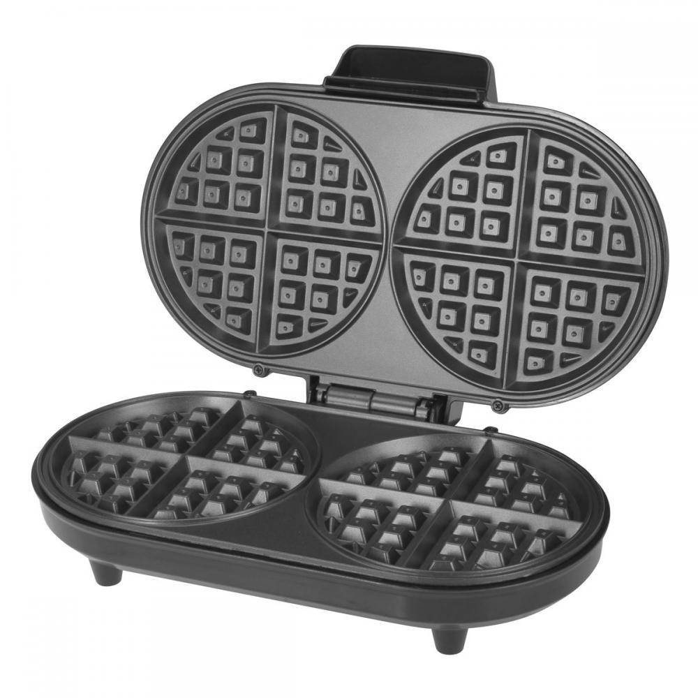 Kalorik Black And Stainless Steel Double Belgian Waffle Maker