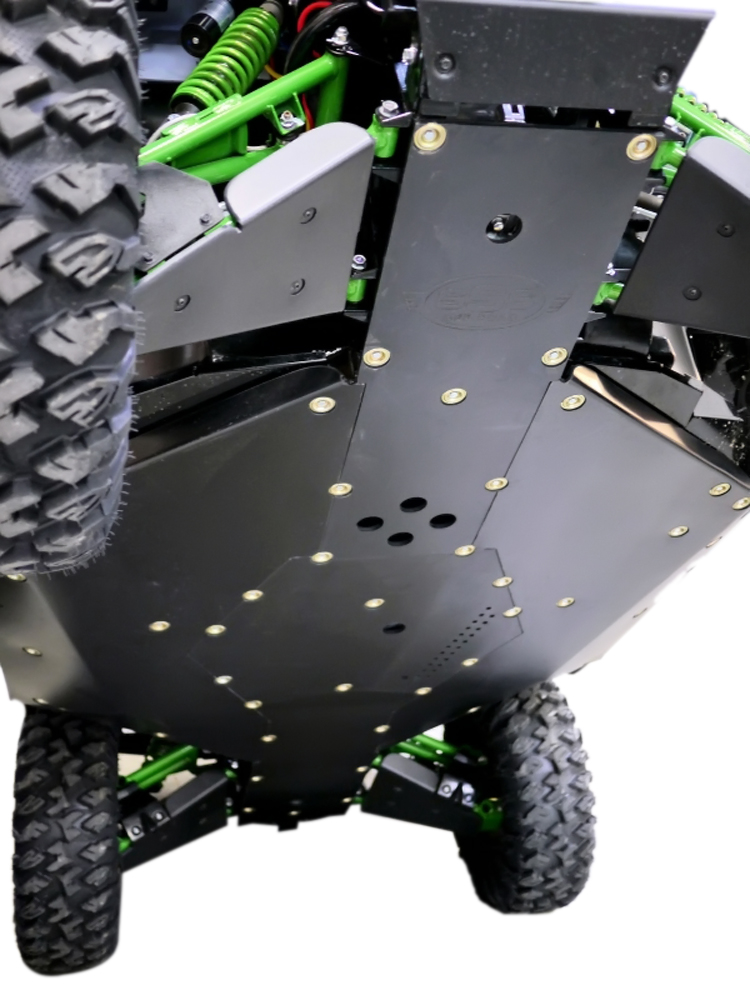 Kawasaki Teryx-4 with Rock Gliders Sliders Skid Plate