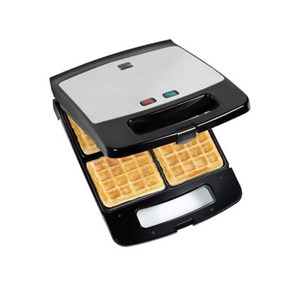 Waffle Maker 4 Slice Blk SS