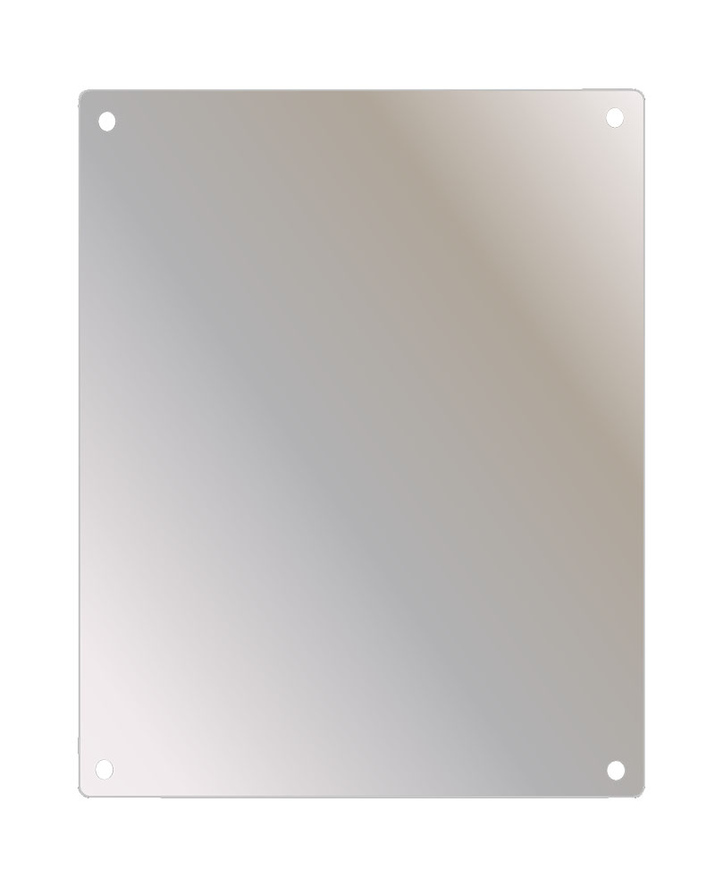 Stainless Steel Faced Mirror 18X36