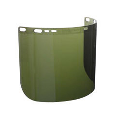 "Kimberly-Clark Professional* Jackson Safety* 26262 Model F50 8"" X 15 1/2"" X .06"" Green Shade 3 Unbound Polycarbonate Faceshield"