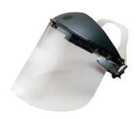 "Kimberly-Clark Professional* Jackson Safety* Allsafe SMC� Model F30 9"" X 15 1/2"" X .04"" Clear Aluminum Bound Acetate Faceshield"