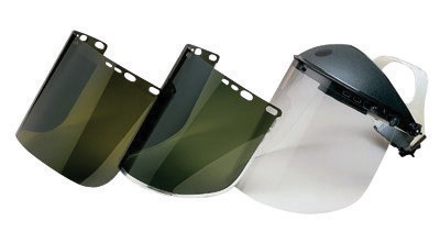"Kimberly-Clark Professional* Jackson Safety* Model F30 9"" X 15 1/2"" X .04"" Dark Green Aluminum Bound Acetate Faceshield For Use"