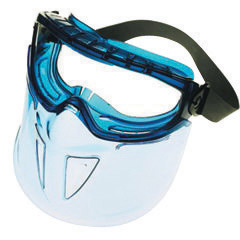 Kimberly-Clark Professional* Jackson Safety* V90 Shield Monogoggle* XTR Indirect Vent Splash Goggles With Blue Frame, Clear Anti