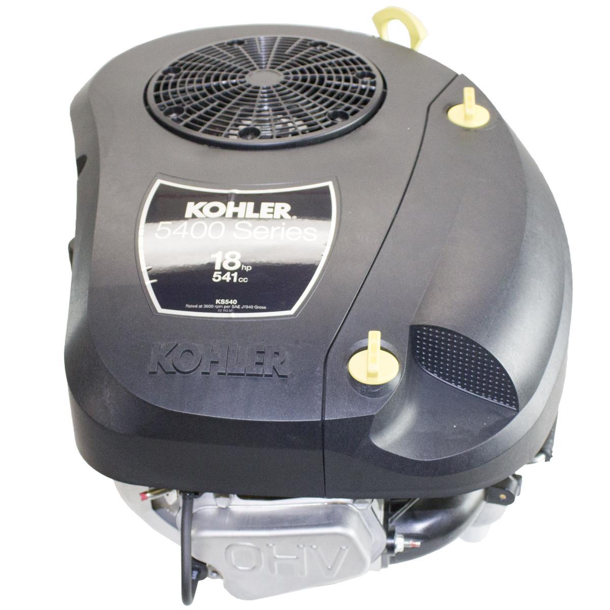 "18hp Kohler 5400 Series Vertical 1"" x 3-5/32"" Shaft, Oil Filter, Electric Start, 12 Amp Alternator, Fuel Pump Cast Iron Sleeve"