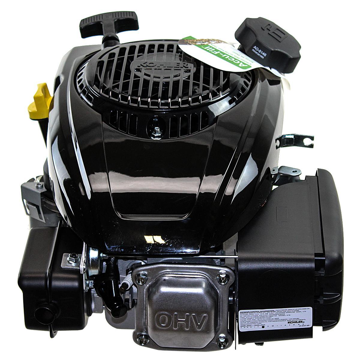 """173cc Vertical 25mmx3-5/32"""" Shaft, OHV, Recoil Start, Safety Brake, Kohler Engine"""