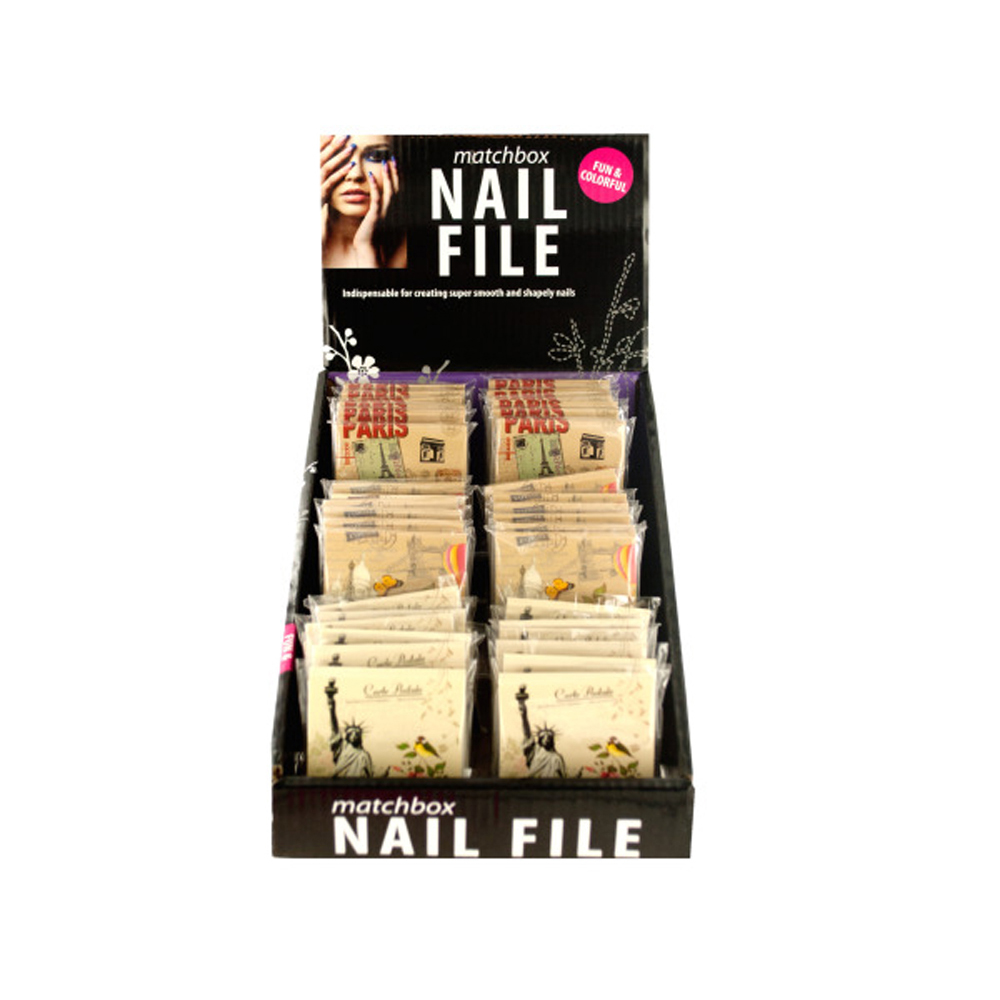 Nail File Matchbook Display Case Of 36
