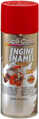 DE1653 Ceramic Red Engine Paint - 12 oz.