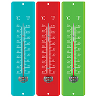 THERMOMETER METAL 11-1/2 IN