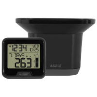 La Crosse 724-1710 Wireless Rain Station, 300 ft, 14 - 122 deg F Indoor, 40 - 148 deg F Outdoor