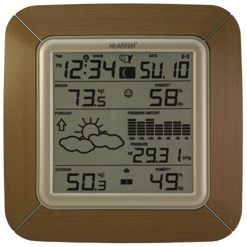 Wireless Forecast Station with Barometric Pressure & Moon Phase