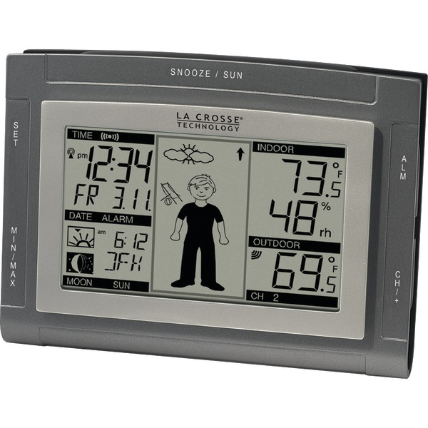 LA CROSSE TECHNOLOGY WS-9611U-IT-CBP Wireless Weather Station with Sun/Moon & Advanced Forecast Icons