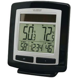 LA CROSSE TECHNOLOGY WS-6010U-IT-CBP SOLAR TEMPERATURE & HUMIDITY STATION