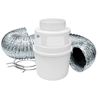 Lambro 211L Dryer Lint Trap Kit, 4 Pieces, 4 in X 5 ft