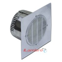 Lambro 141 Fan Eave Vent, 3 in, Aluminum