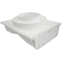 EAVE VENT 4IN WHITE PLSTC SIDE