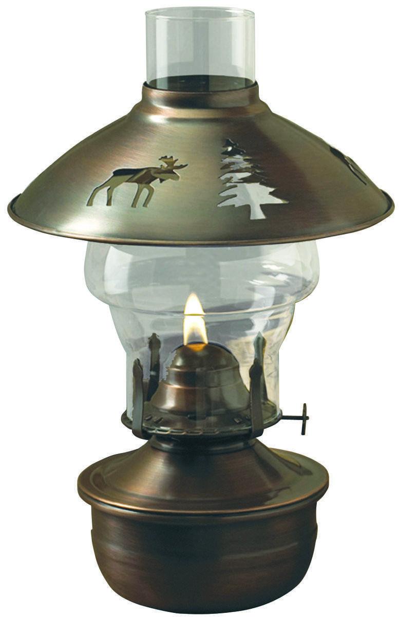 Tiki 50840 Montana Oil Lamp, 3/4 in Flat, 25 hr Burning, 15.5 oz, Copper