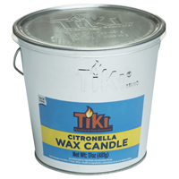 TIKI Citronella 1412110 Galvanized Citronella Filled Candle Bucket, 17 oz